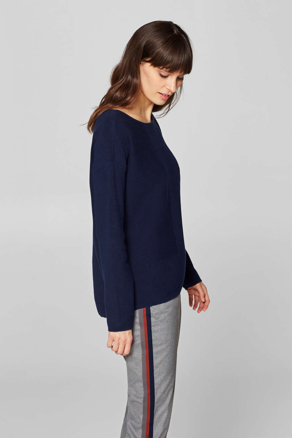 Sweaters, NAVY, detail image number 5