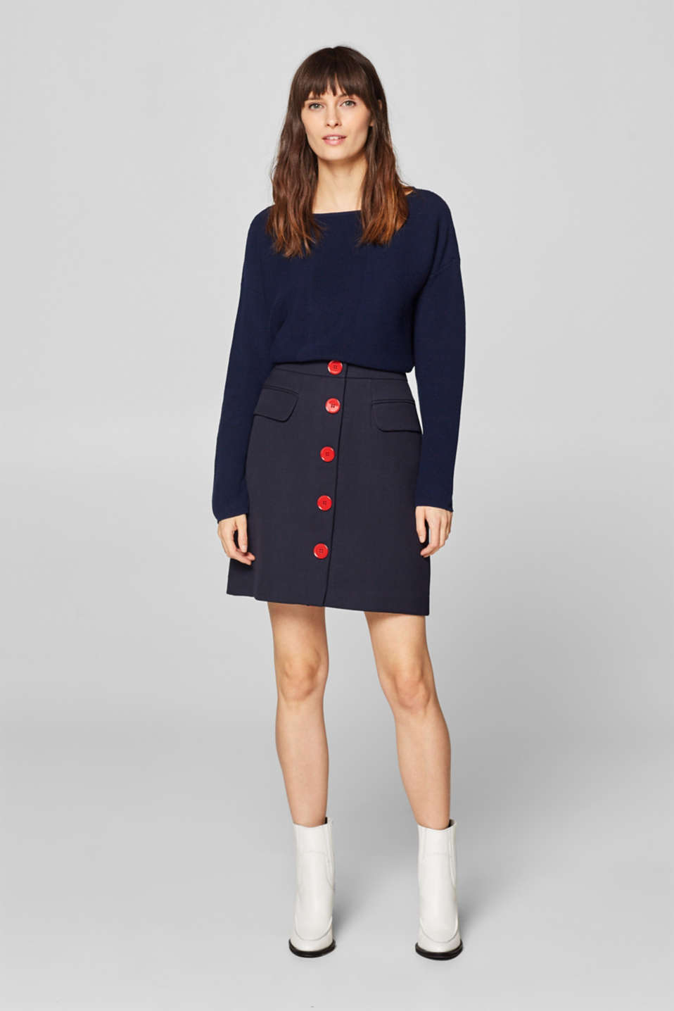 Sweaters, NAVY, detail image number 1