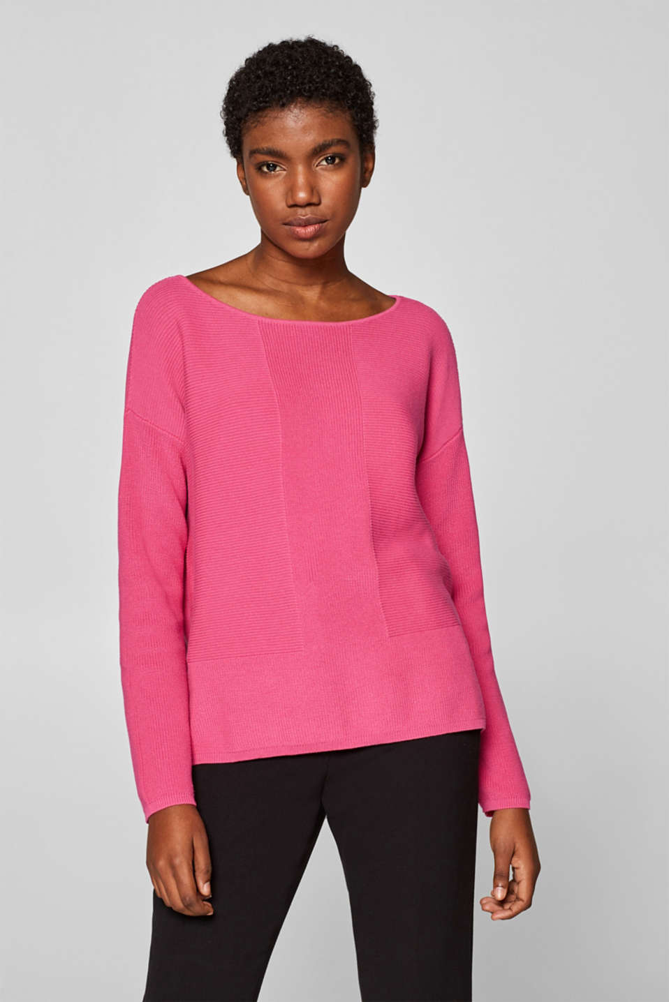 Sweaters, PINK FUCHSIA, detail image number 2