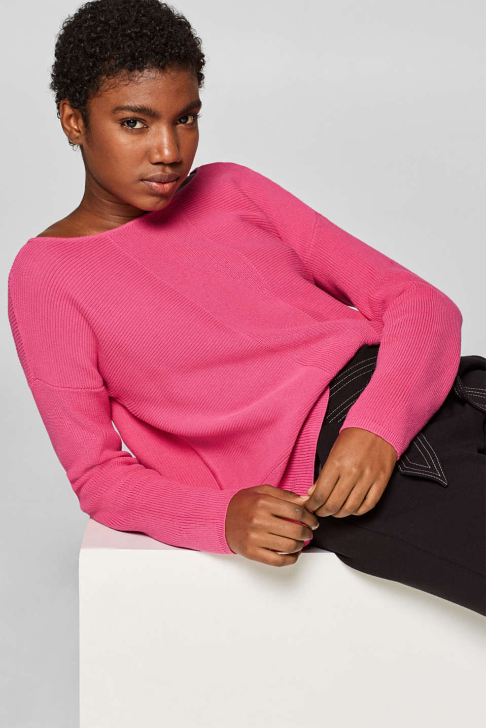 Sweaters, PINK FUCHSIA, detail image number 0