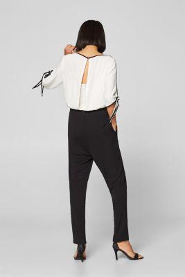 e5a63a15155b Esprit - Jumpsuit med kontrastfärgade kanter i Esprits Online-Shop