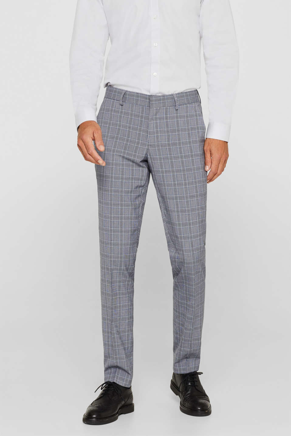 Esprit - GLENCHECK mix + match: stretchy suit trousers