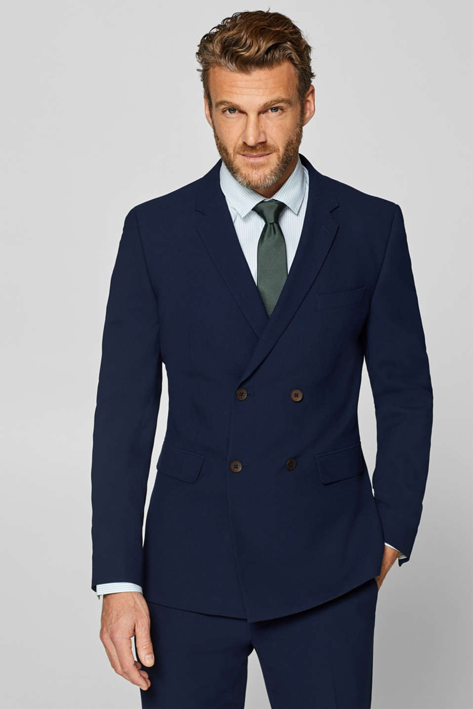 Esprit - ACTIVE SUIT mix + match: Double-breasted jacket