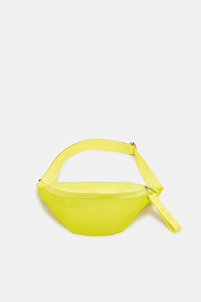 Belt bag met een materiaalmix, LIME YELLOW, detail image number 0