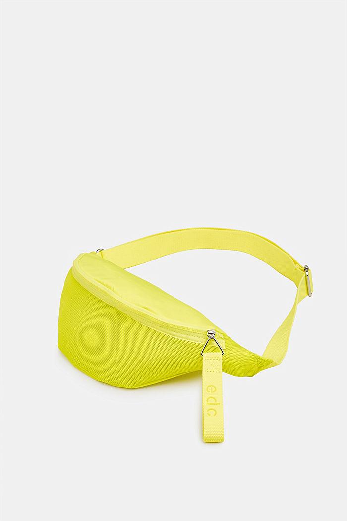 Belt bag met een materiaalmix, LIME YELLOW, detail image number 2