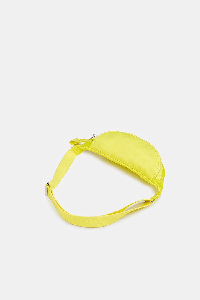 Belt bag met een materiaalmix, LIME YELLOW, detail image number 4
