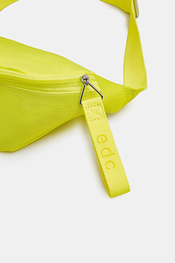 Belt bag met een materiaalmix, LIME YELLOW, detail image number 3