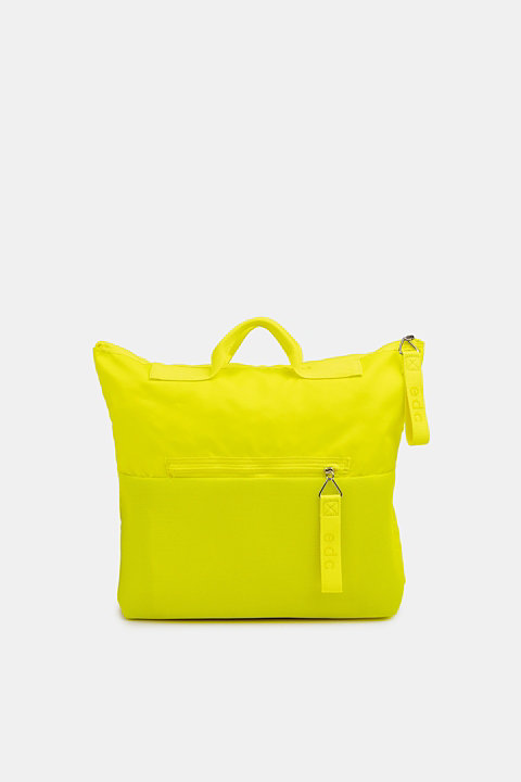 Neon rucksack in a material mix