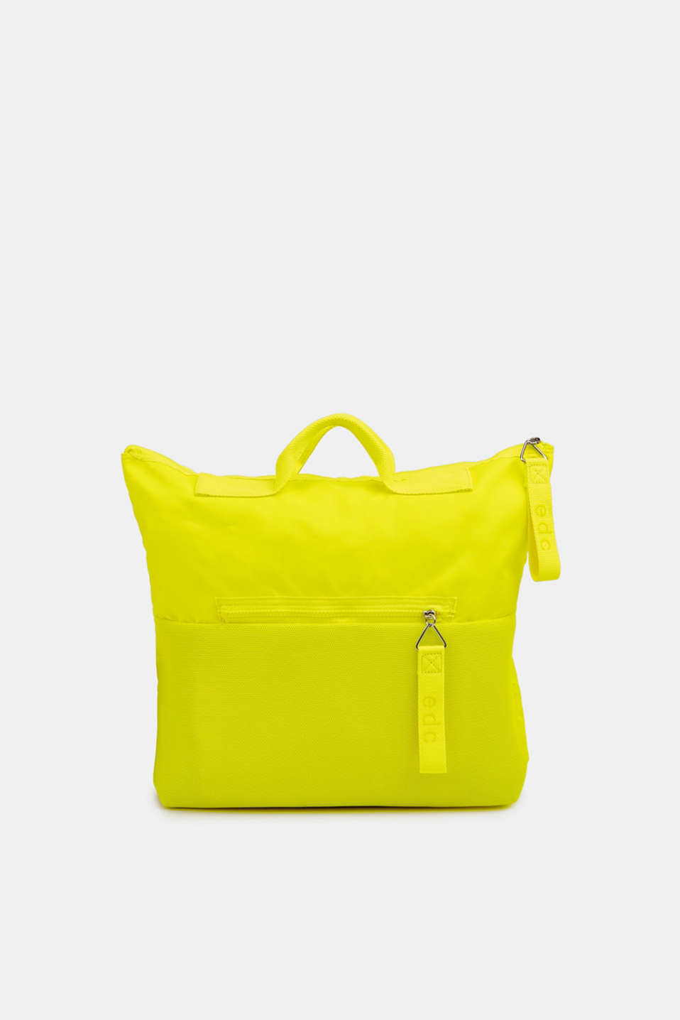 Neon rucksack in a material mix, LIME YELLOW, detail image number 0