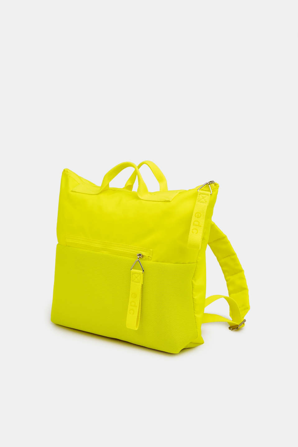 Neon rucksack in a material mix, LIME YELLOW, detail image number 2