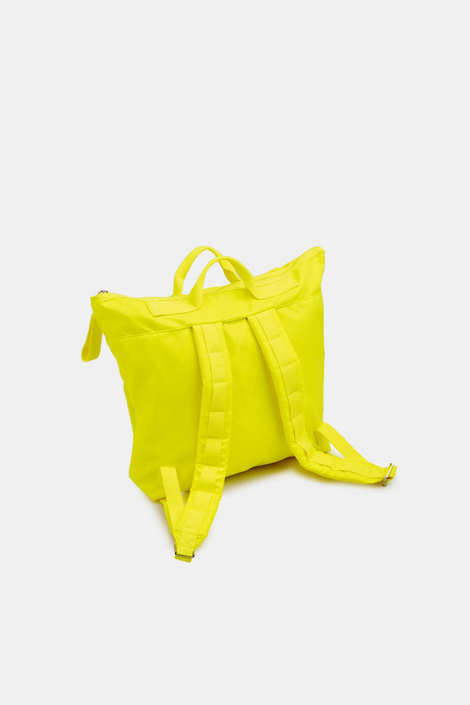 Neon rucksack in a material mix, LIME YELLOW, detail image number 5