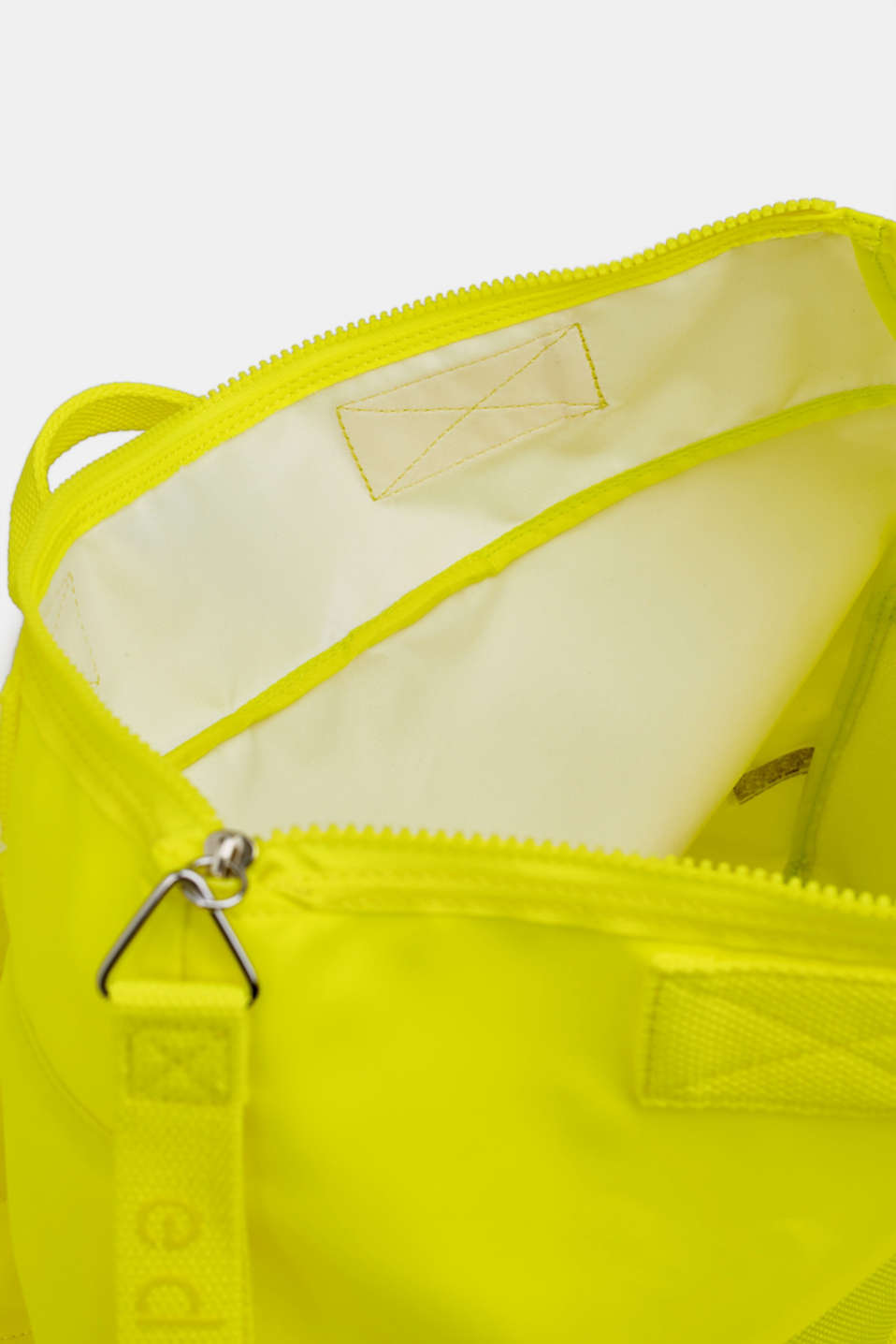 Neon rucksack in a material mix, LIME YELLOW, detail image number 4