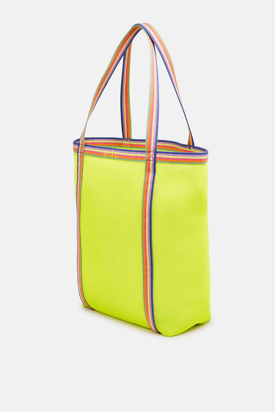 Firm mesh shopper, LIME YELLOW, detail image number 2