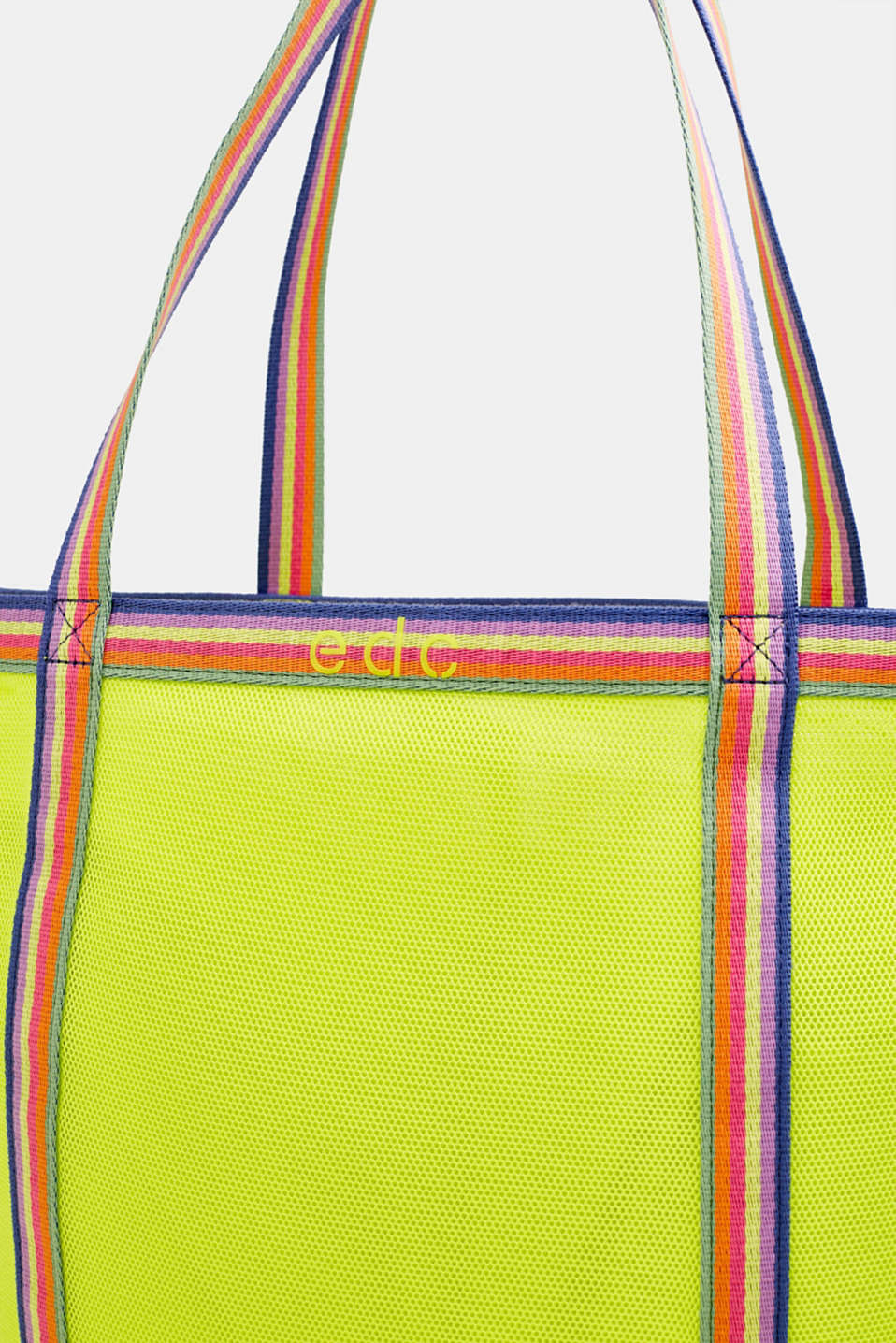 Firm mesh shopper, LIME YELLOW, detail image number 4