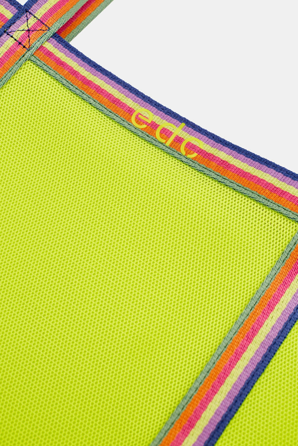 Firm mesh shopper, LIME YELLOW, detail image number 3