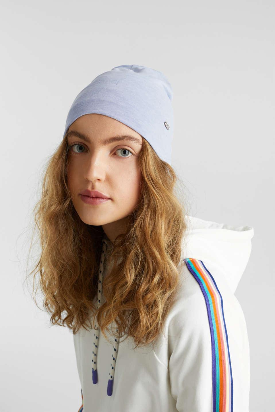 Jersey turn-up cap, LIGHT BLUE, detail image number 2