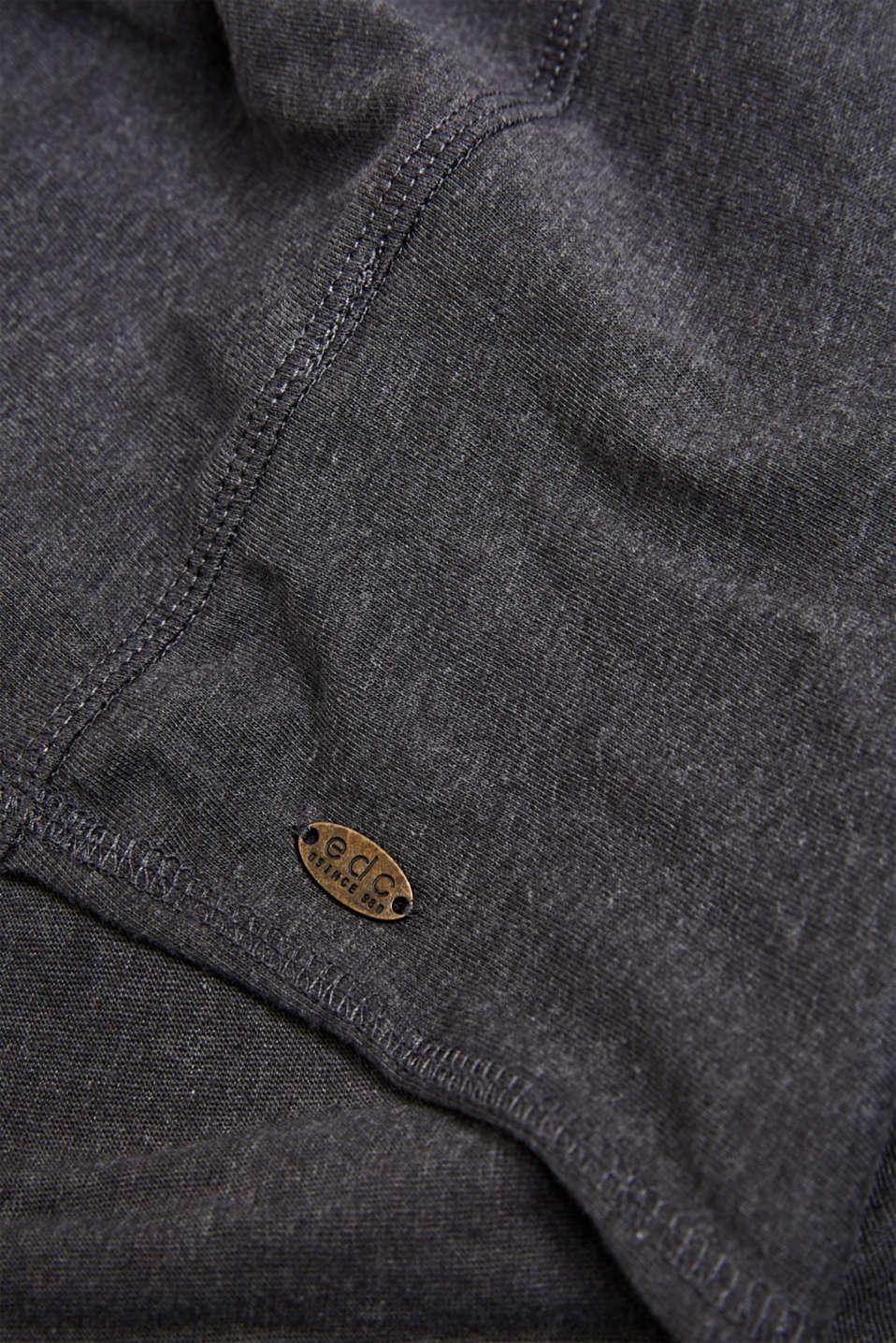 Blended cotton snood, DARK GREY, detail image number 2