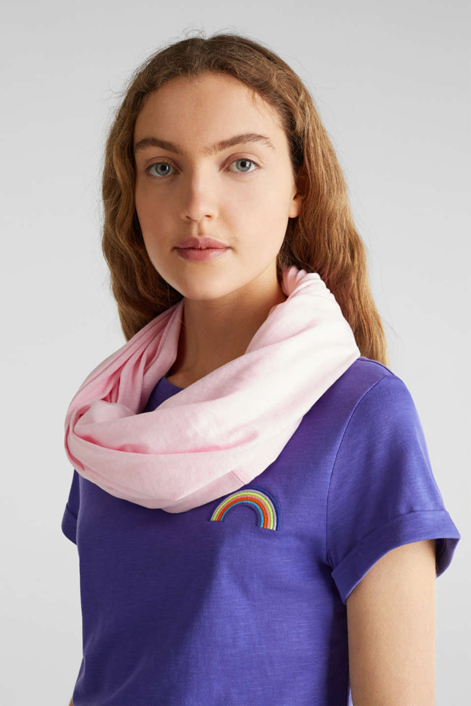 Blended cotton snood, OLD PINK, detail image number 1