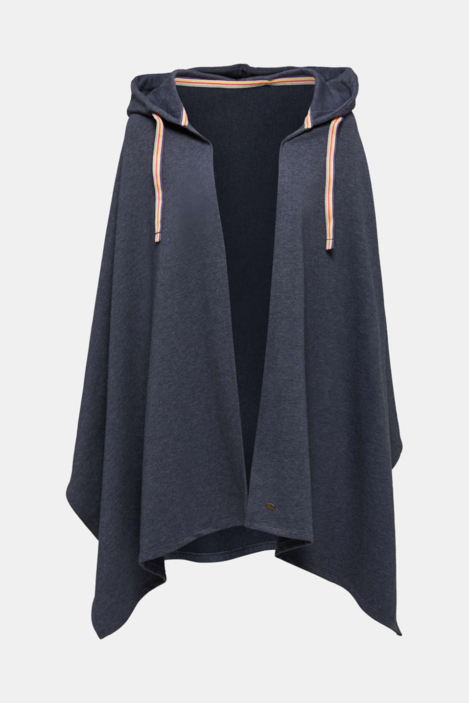 Jersey cape with a hood, NAVY, detail image number 0