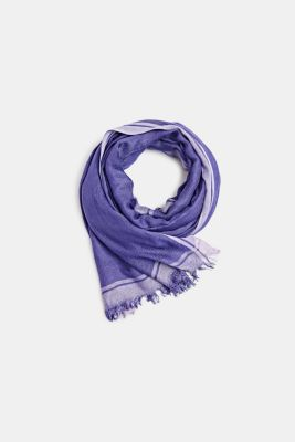 Woven scarf with stripes, VIOLET, detail