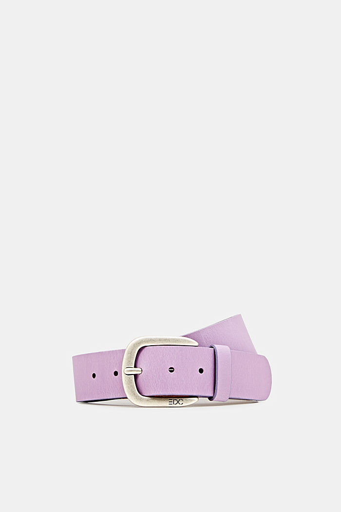 Cinturón de piel, LILAC, detail image number 0