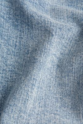 Ankle-length jeans with a vintage finish, BLUE BLEACHED, detail