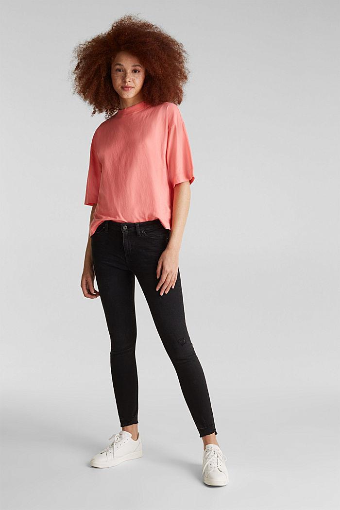 Superstretch-Jeans im Used-Look, BLACK DARK WASHED, detail image number 1