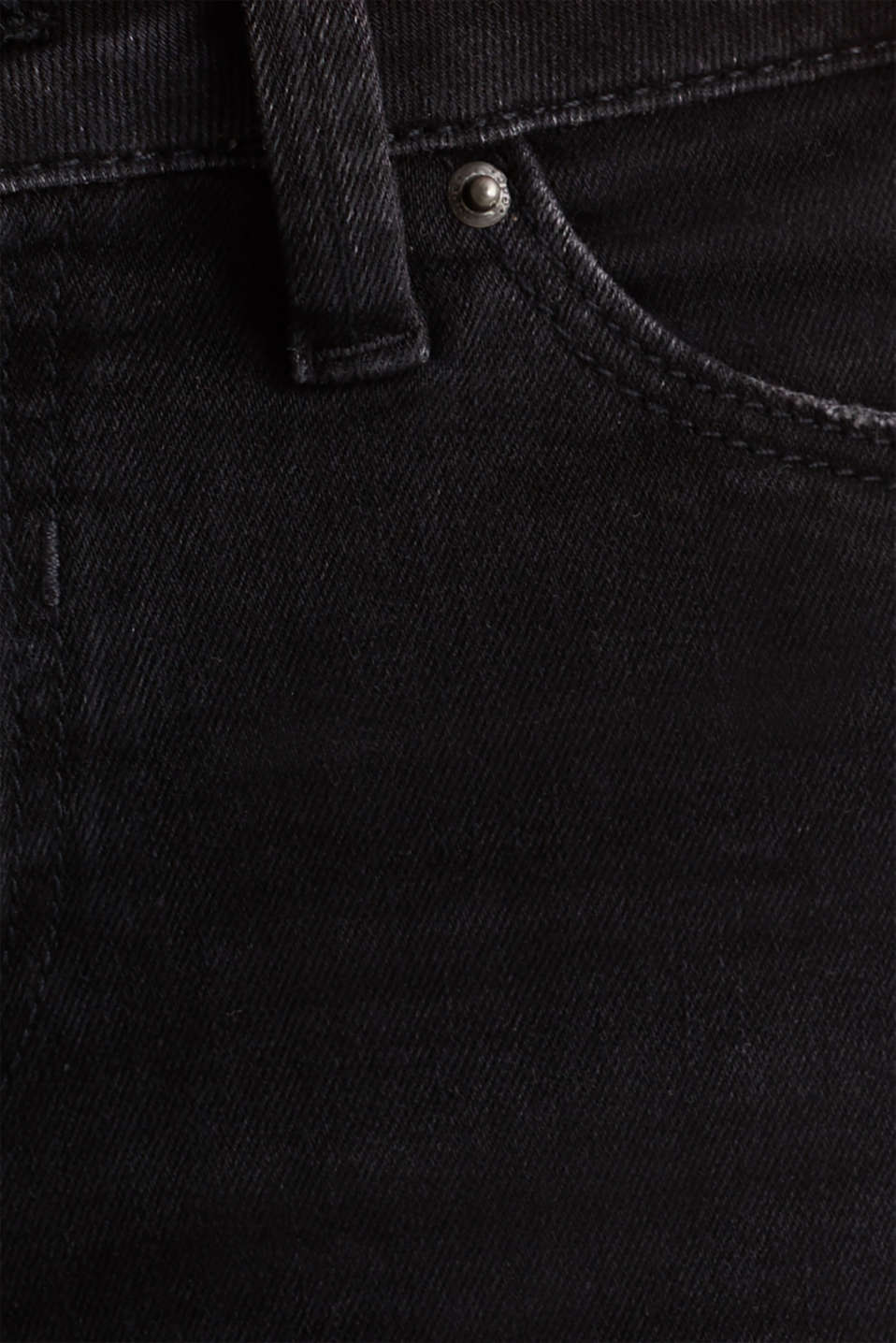 Super stretch jeans in a vintage look, BLACK DARK WASH, detail image number 4