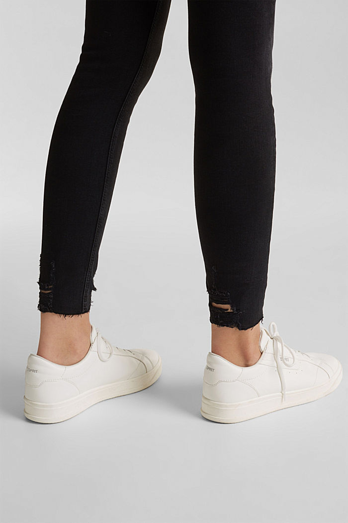 Superstretch-Jeans im Used-Look, BLACK DARK WASHED, detail image number 5