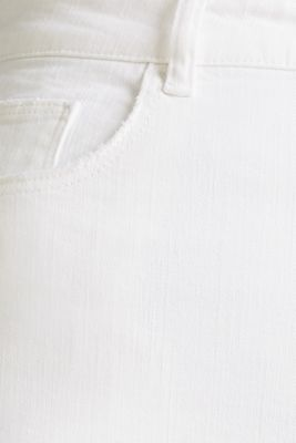 High-waisted jeans with two buttons, WHITE, detail