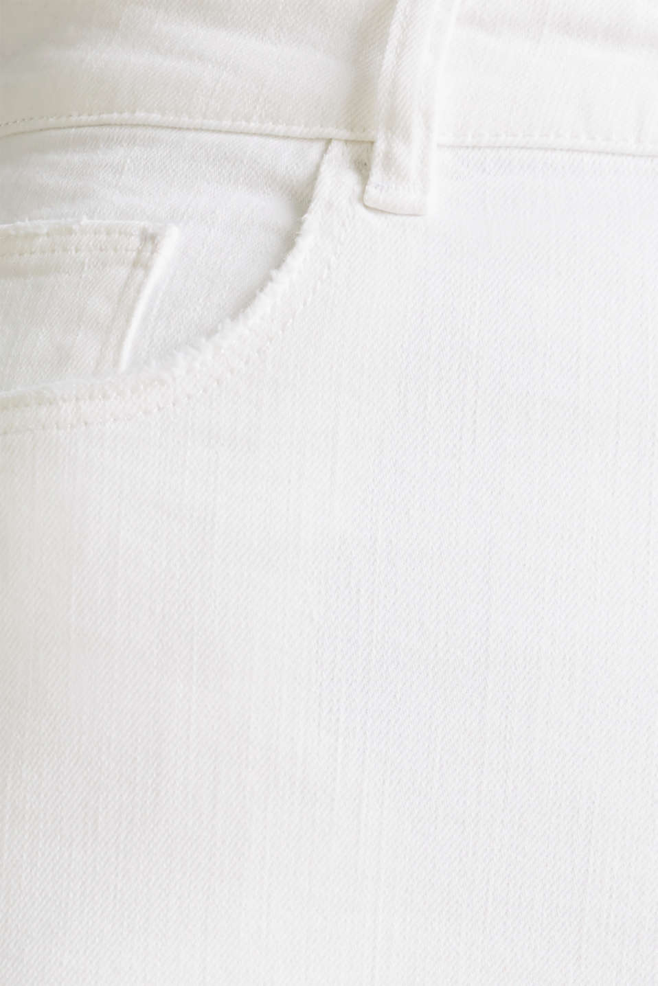 High-waisted jeans with two buttons, WHITE, detail image number 4