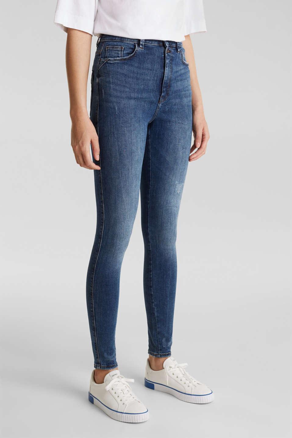 Double button jeans, BLUE MEDIUM WASH, detail image number 6
