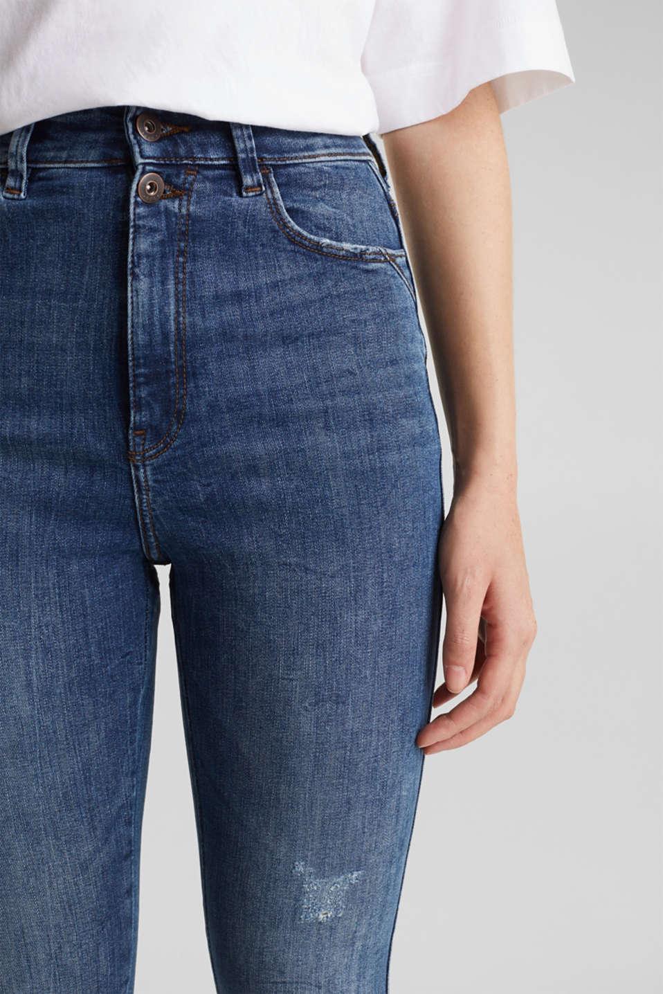 Double button jeans, BLUE MEDIUM WASH, detail image number 2