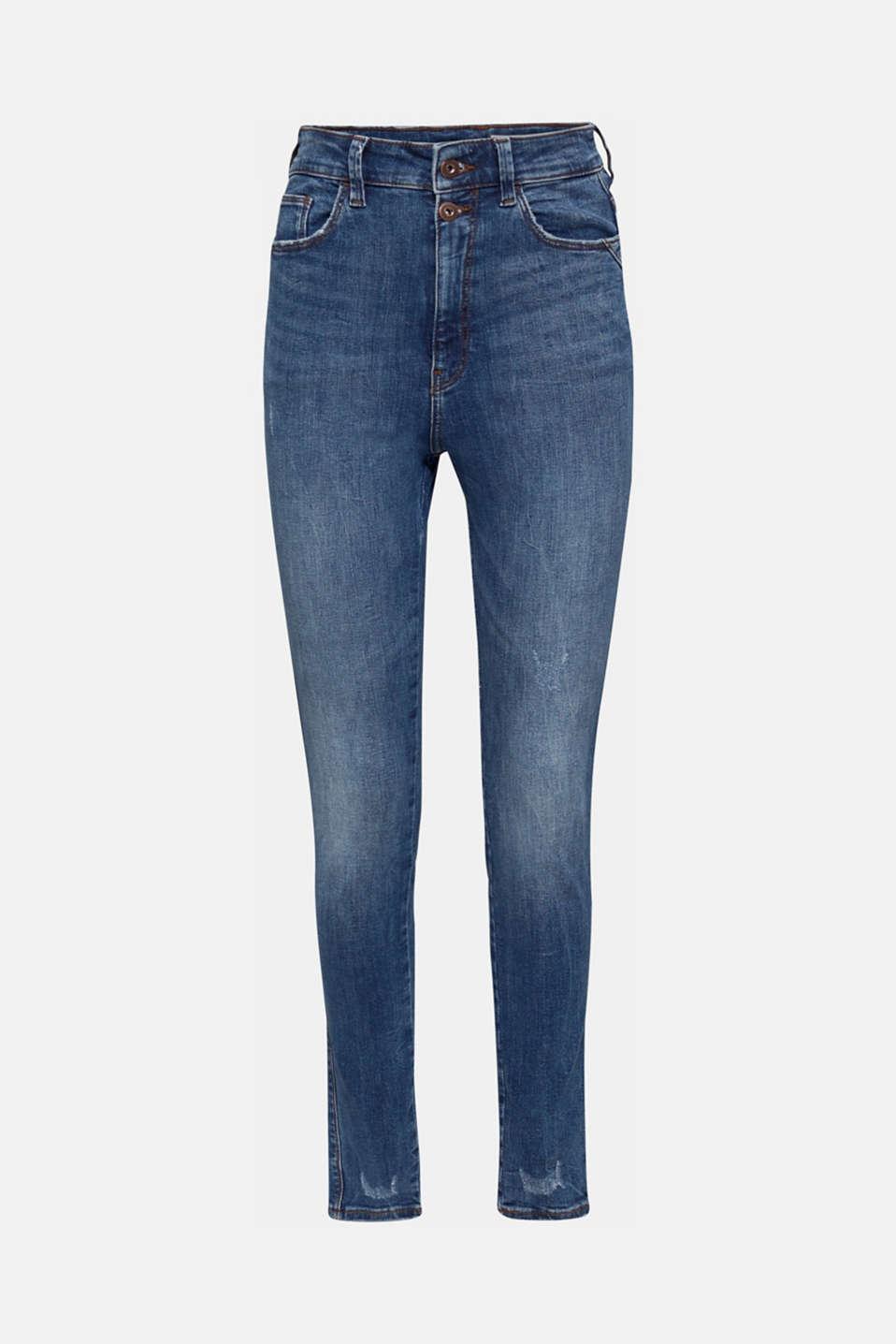 Double button jeans, BLUE MEDIUM WASH, detail image number 7