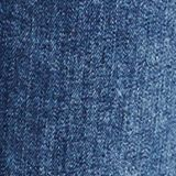 Worn-wash jeans with a button fly, BLUE DARK WASHED, swatch
