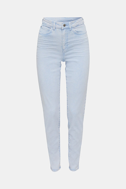High-rise vintage wash trousers