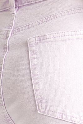 High-rise vintage wash trousers, LILAC, detail