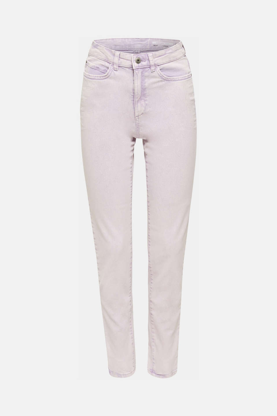High-rise vintage wash trousers, LILAC, detail image number 6