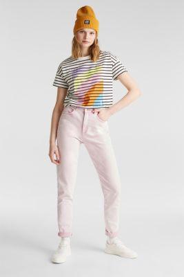 High-rise vintage wash trousers, BLUSH, detail