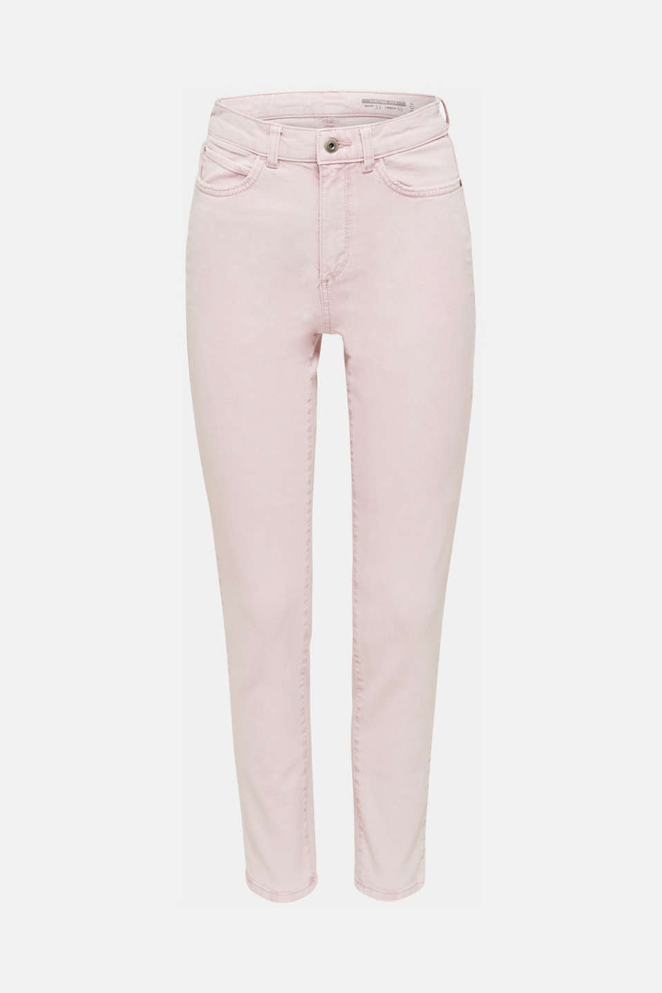 High-rise vintage wash trousers, BLUSH, detail image number 7