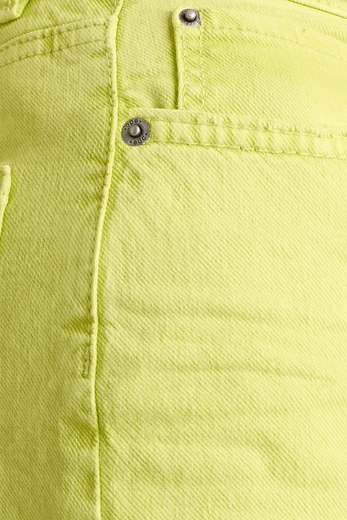 High-Rise-Hose mit Vintage-Waschung, LIME YELLOW, detail image number 4