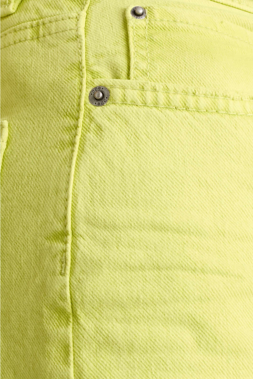 High-rise vintage wash trousers, LIME YELLOW, detail image number 4