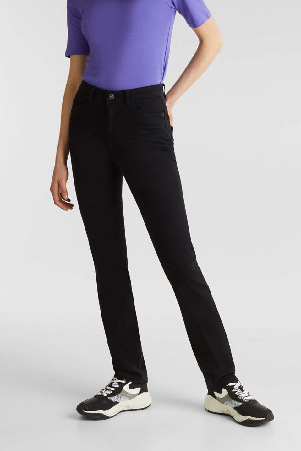 edc - Washed-effect stretch trousers