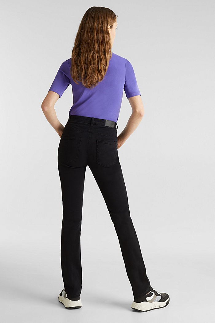 Washed-effect stretch trousers, BLACK, detail image number 3