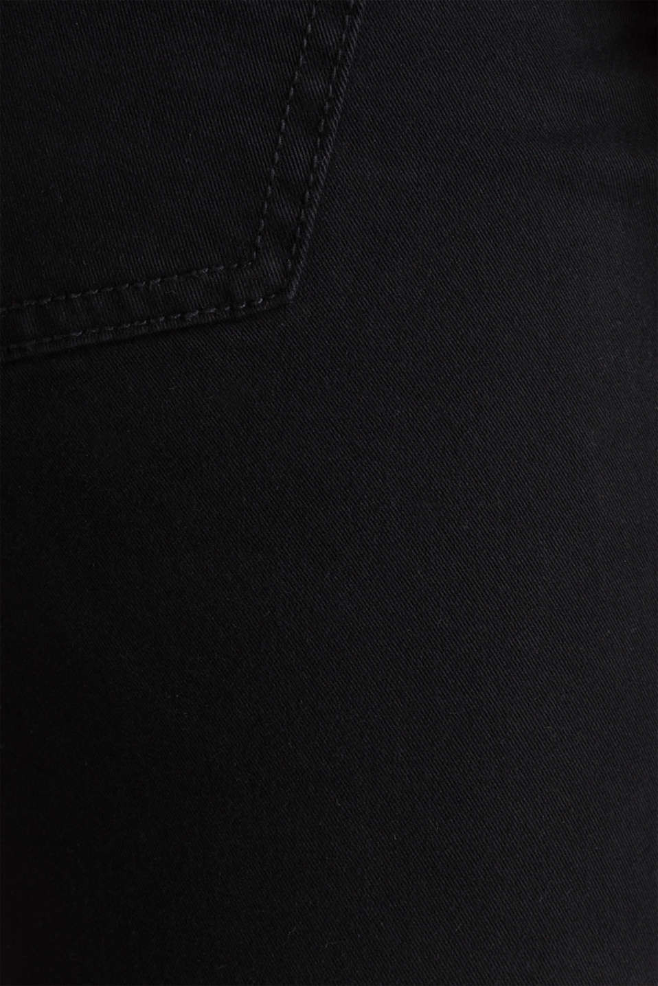 Washed-effect stretch trousers, BLACK, detail image number 4
