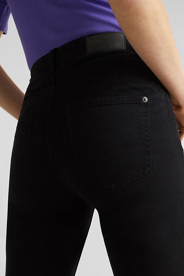 Stretch-Hose im Washed-Look, BLACK, detail image number 5