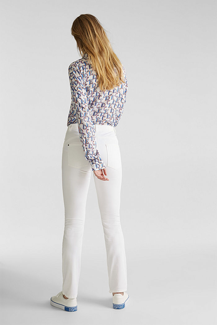 Washed-effect stretch trousers, WHITE, detail image number 3