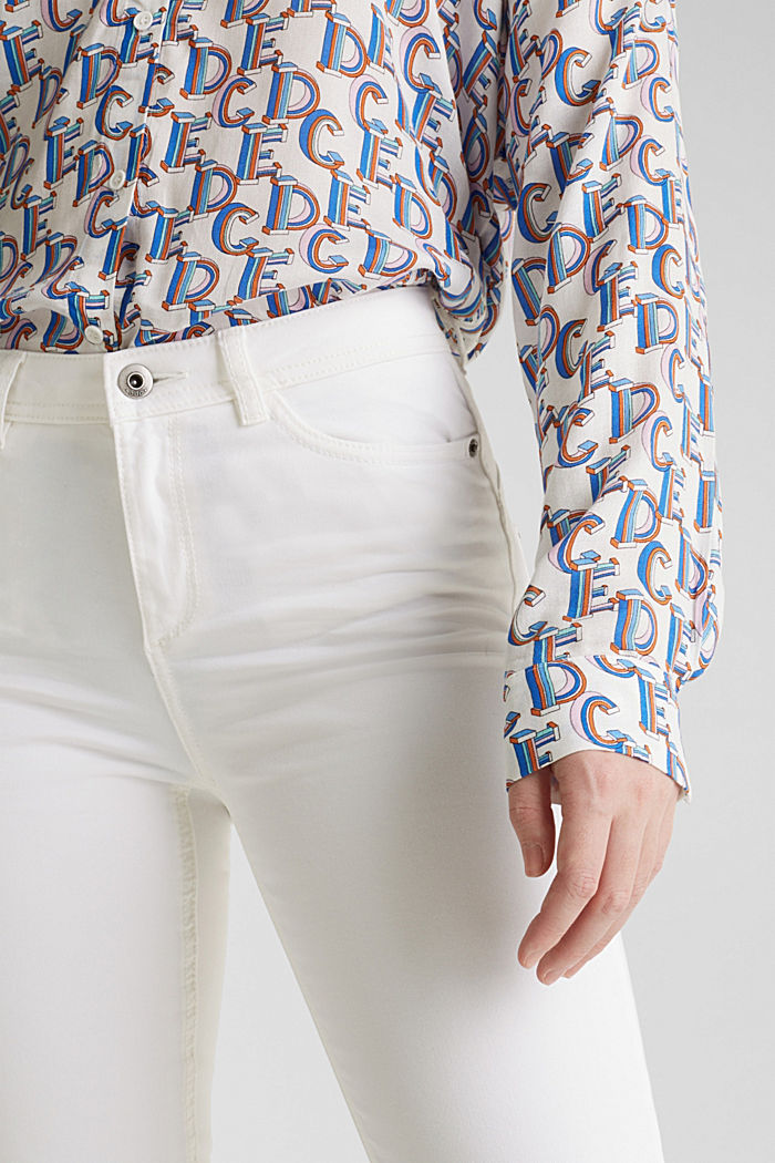 Washed-effect stretch trousers, WHITE, detail image number 2