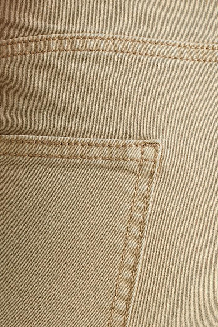 Stretch-Hose im Washed-Look, KHAKI BEIGE, detail image number 3