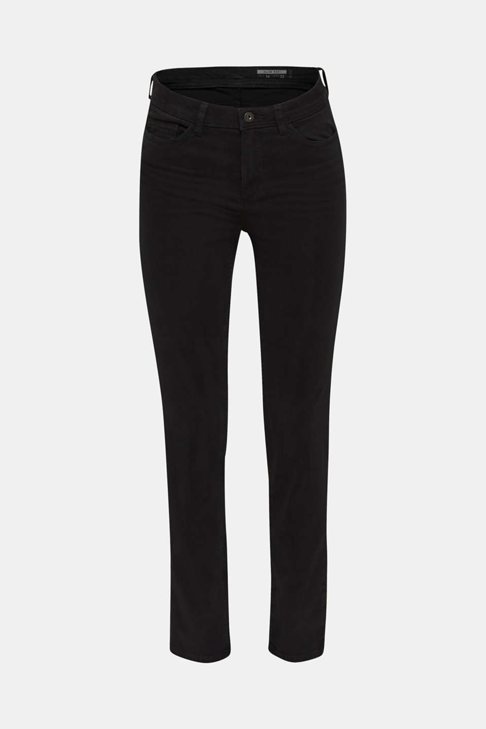 Washed-effect stretch trousers, BLACK, detail image number 7